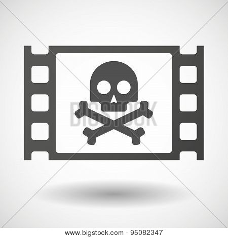 35Mm Film Frame With A Skull