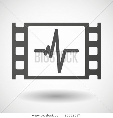 35Mm Film Frame With A Heart Beat Sign
