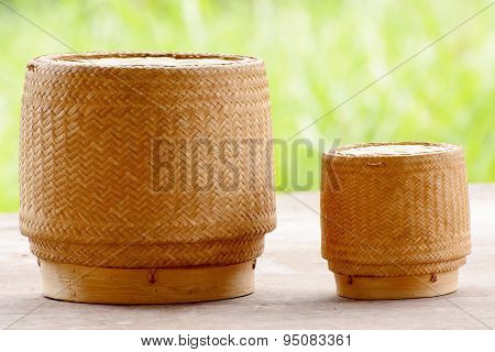Kratip or sticky rice basket container