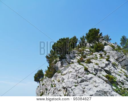 The rocks near the Croatian Klis