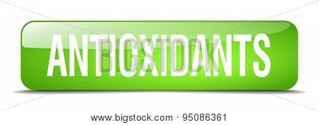 Antioxidants Green Square 3D Realistic Isolated Web Button