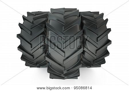 Group Of Tractor Tyres