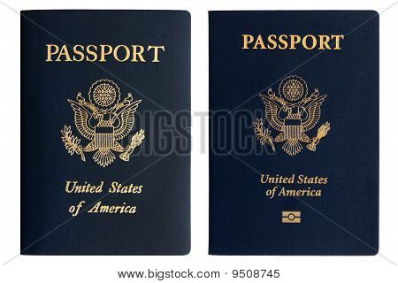 Old And New American Passports