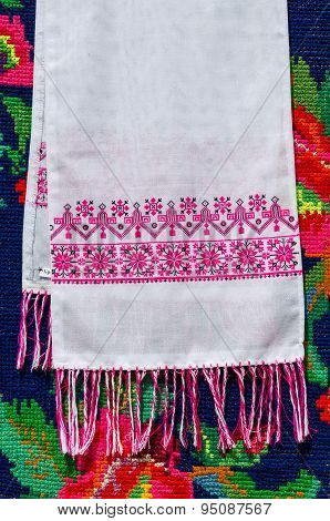Belorussian Towel With Vintage Ornament