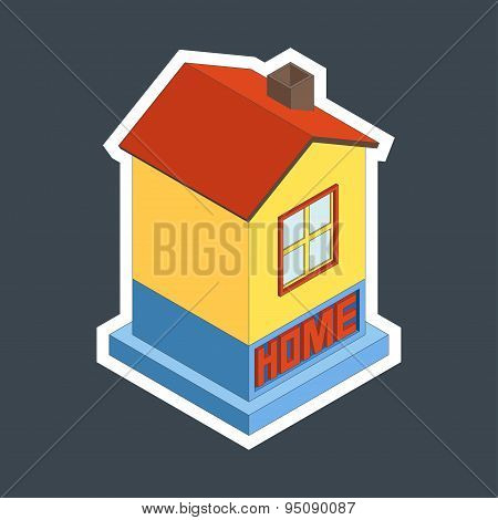 Vector Illustration Of House.