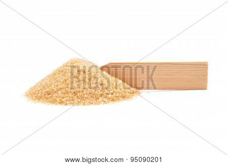 Brown Cane Sugar At Plate