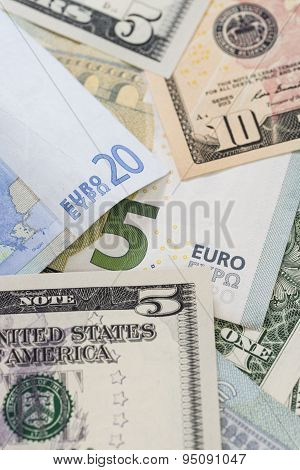 European And Us American Money