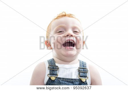 baby boy portrait over a isolated white background