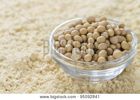 Soy Flour Background