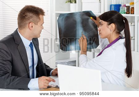 Radiologist Or Traumatologist Concept