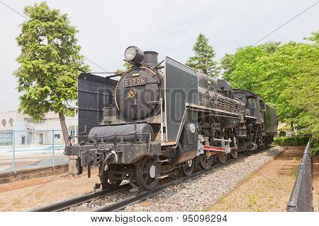 Steam Locomotive C57 Class N26 In Gyoda Town, Japan