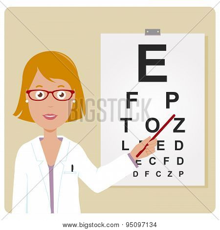Female ophthalmologist