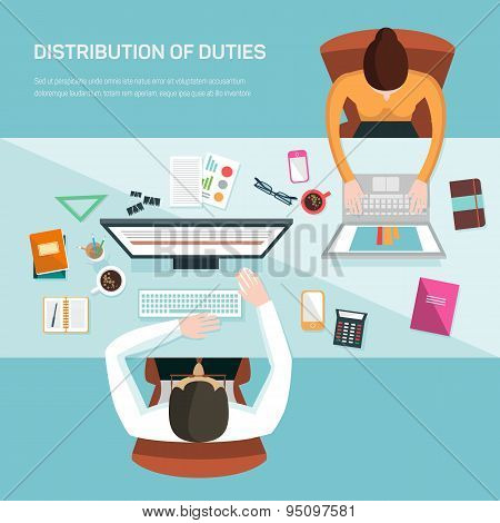 Vector illustration for office workers.
