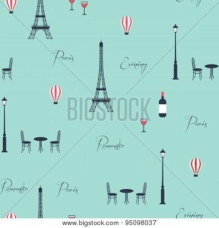 Vector pattern of eiffel tower