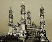 foto of charminar  - 400 year old ancient history from hyderabad india - JPG