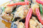 foto of catfish  - Thai food name Spicy Fried Stir Catfish - JPG