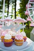 picture of ombres  - Dessert table for a party - JPG