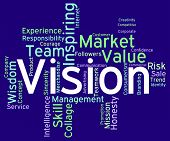 image of objectives  - Vision Word Representing Goals Plan And Objective - JPG