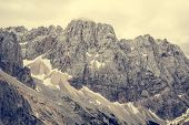 picture of mountain chain  - Dramatic mountain landscape - JPG