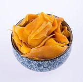 foto of mango  - mango dry in bowl or dried mango slices - JPG