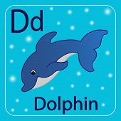 pic of letter d  - The letter of the English alphabet D - JPG