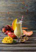 stock photo of mango  - Healthy vitamin tropical mango - JPG