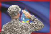 image of guam  - National military forces with flag on background conceptual series  - JPG