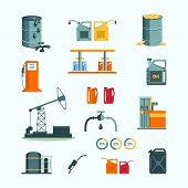image of petrol  - Oil and petrol industry vector objects - JPG