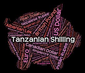 pic of shilling  - Tanzanian Shilling Representing Worldwide Trading And Word - JPG