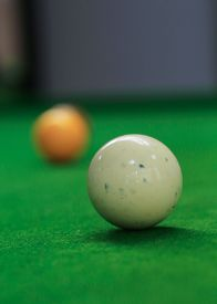 pic of snooker  - snooker balls on green snooker table sport game background - JPG