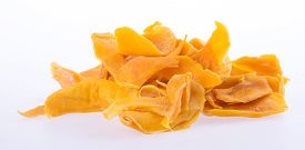 picture of mango  - mango dry or dried mango slices on background - JPG