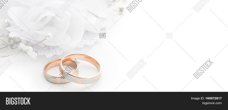 Wedding Rings On Wedding Card On Image Amp Photo Bigstock