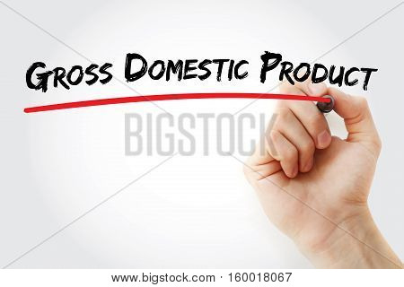 Hand Writing Gross Domestic Product