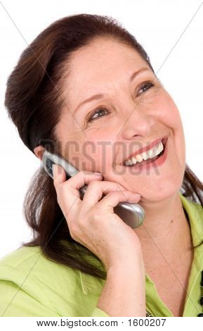 Happy Business Woman On The Phone