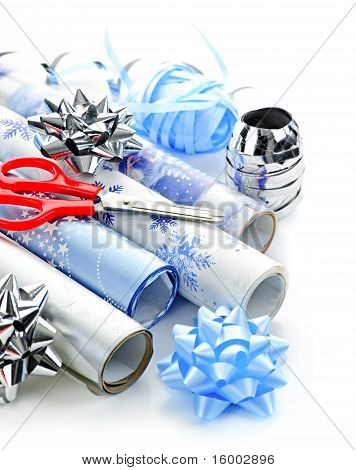 Christmas Wrapping Paper Rolls