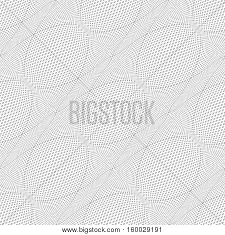 Seamless meshy pattern. 3D illusion. Vector illustration.