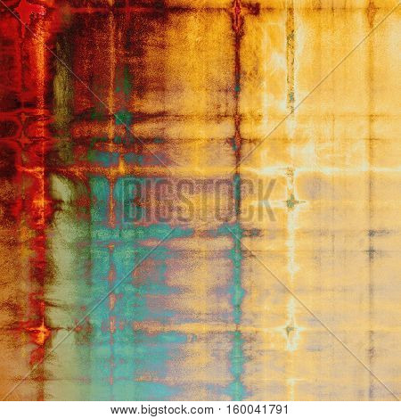 Distressed texture with ragged grunge overlay. Wrinkled background or backdrop with different color patterns: yellow (beige); brown; green; blue; red (orange); pink