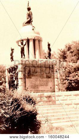 View of Liberty Monument in Samarkand Uzbekistan 1962