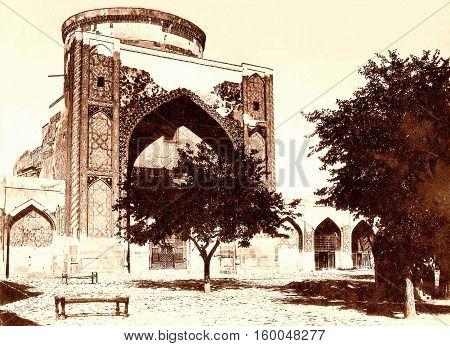 Tilya-Kori Madrasah of Registan in Samarkand Uzbekistan 1962