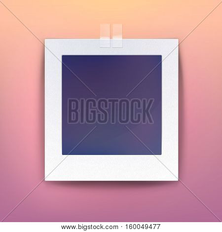 Background for blank picture or photo frame on wall, empty photography or retro image paper, black space for photo snapshot or blank square photo for gallery, decorative photo object or picture frame