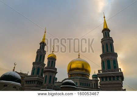 Muslim mosque in the center of Moscow near Prospect Mira 2016
