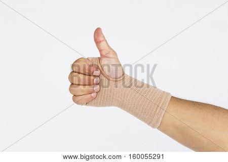 Bandage Like Hand Fingers Concept