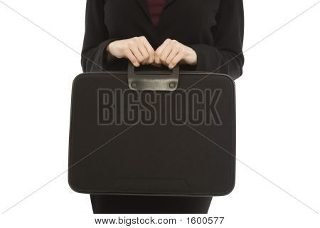 Businesswoman With Black Briefcase