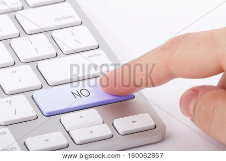 NO word written on computer keyboard .