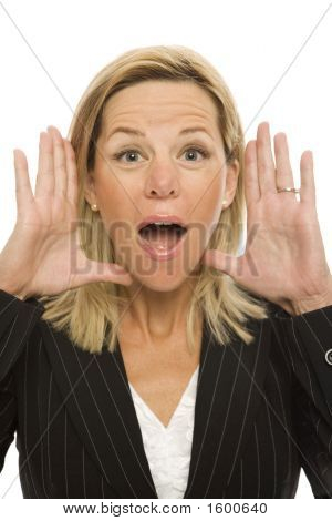 Businesswoman Yells