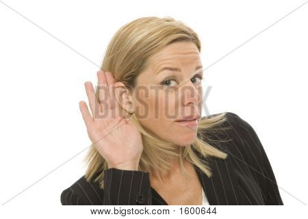 Businesswoman Tries To Listen