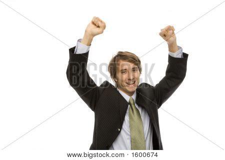 Businessman Gestures Success