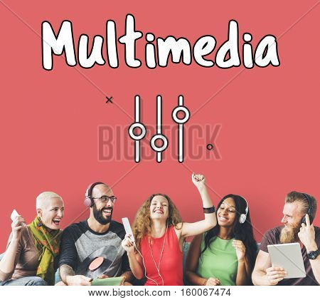 Multimedia Music Broadcast Technology Concept