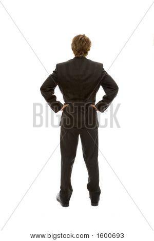 Businessman Faces Away