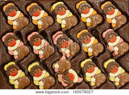 Amsterdam the Netherlands - December 30 2016: Black Pete chocolates